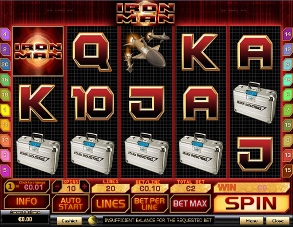 New Playtech Casino Game - Iron Man Slots