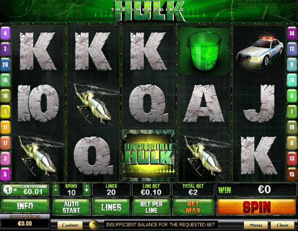 New Playtech Slots - The Incredible Hulk