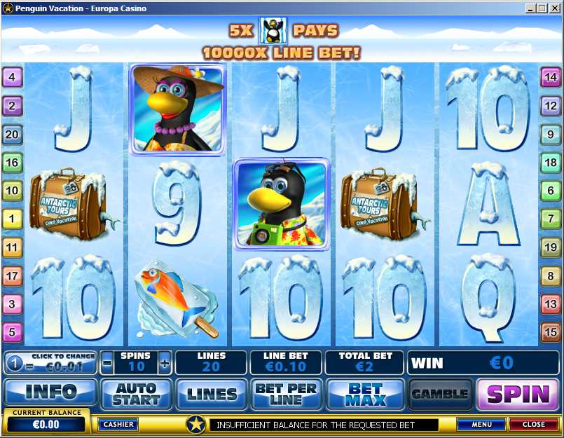 Penguin Vacation Online Slot Machine Game Review