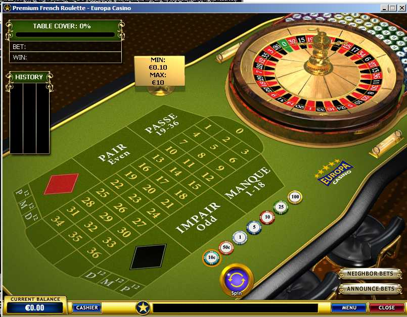 online casino play casino games european roulette play