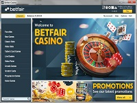 BetFair Casino Lobby Screenshot