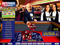 Betfred Casino Lobby Screenshot