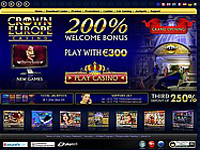 Crown Europe Casino Screenshot