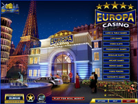 Casino Europa Lobby Screenshot