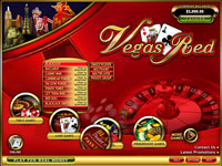 Vegas Red Casino Lobby Screenshot